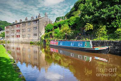 Canal Photograph - Hebden Bridge by Nichola Denny