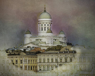 Digital Art - Helsinki Cathedral by Terry Fleckney
