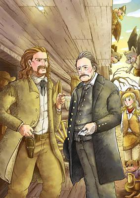 Hickok And Buntline Original by Reynold Jay