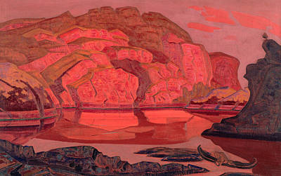 Suggestive Painting - Hidden Treasure by Nicholas Roerich