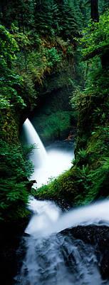 High Angle View Of Waterfall Art Print