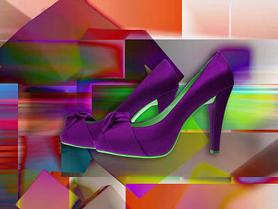 Mixed Media - High Heel Shoes by Marvin Blaine