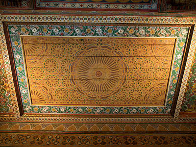 Highly Decorated Roof Of Palais Bahia Art Print