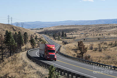 Photograph - Highway Eastern Washington by Jim Corwin