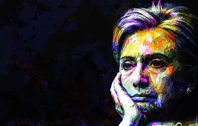 Politicians Mixed Media - Hillary Clinton by Svelby Ru