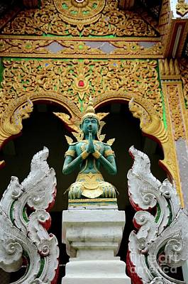 Hindu Goddess Photograph - Hindu Deity Greets At Buddhist Temple Chiang Mai Thailand by Imran Ahmed