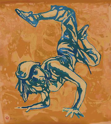 Dancing Mixed Media - Hip Hop Street Dancing  New Pop Art Poster   by Kim Wang