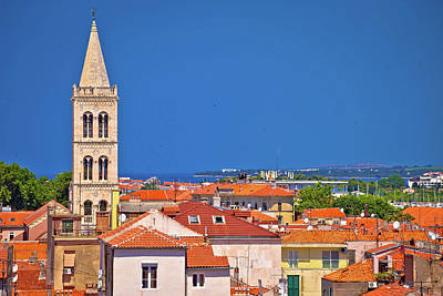 Photograph - Historic Zadar Skyline And Rooftops View by Brch Photography