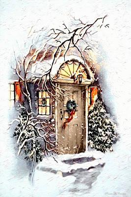 Digital Art - Home For Christmas by Pennie McCracken