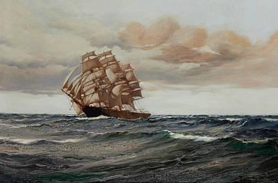 Sphere Painting - Homeward Bound by Montague Dawson