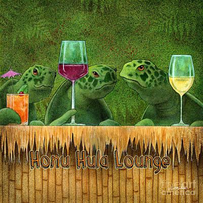 Painting - Honu Hula Lounge... by Will Bullas