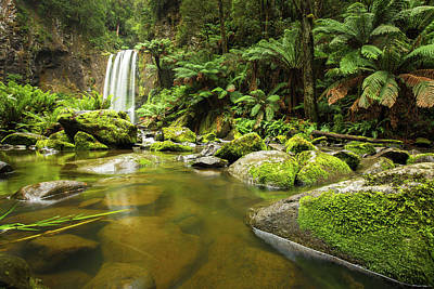 Photograph - Hopetoun Falls by Max Neivandt
