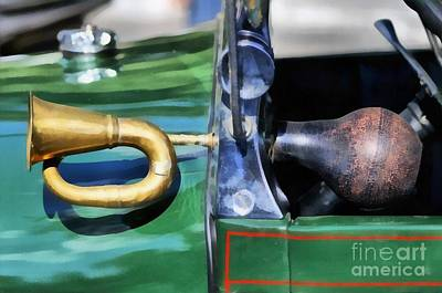 Macro Painting - Horn On 1929 Ford A by George Atsametakis