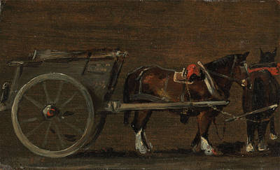 Horse And Cart Art Print by John Constable