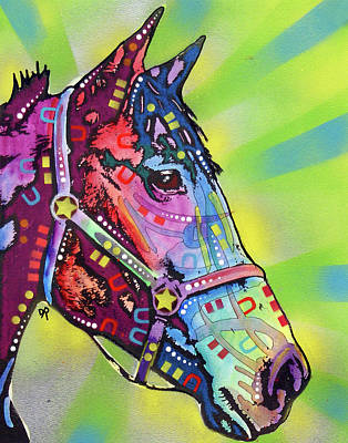 Graffiti Painting - Horse by Dean Russo