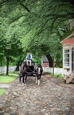 Horse Drawn Wagon Art Print