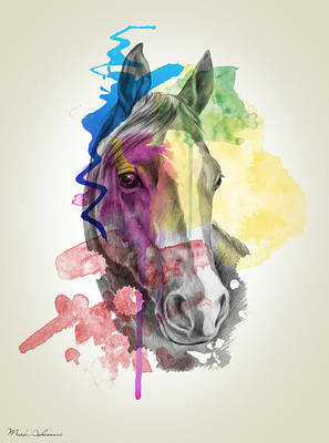 Emotive Painting - Horse   by Mark Ashkenazi