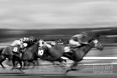 Photograph - Horse Race by Jim Corwin