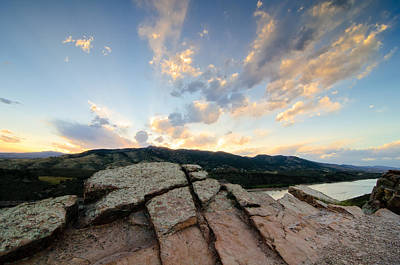 Horsetooth Photograph - Horsetooth Reservoir, Fort Collins, Colorado by Preston Broadfoot