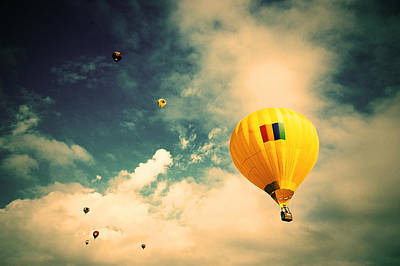 Sports Digital Art - Hot Air Balloon by Super Lovely