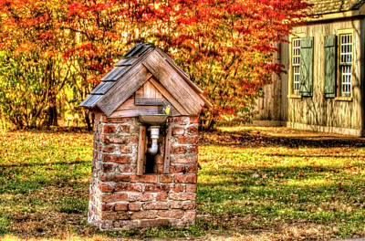 Historic Village In Fall Stanhope New Jersey Print by Geraldine Scull