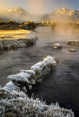 Photograph - Hot Creek In Winter by Joe Doherty