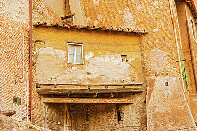 Photograph - House In Rome, Italy. by Marek Poplawski