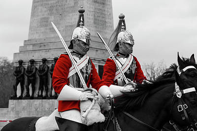 Photograph - Household Cavalry Changing Of The Guard by David Pyatt