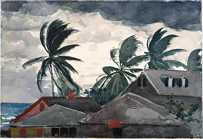 Winslow Homer Painting - Hurricane Bahamas by Winslow Homer