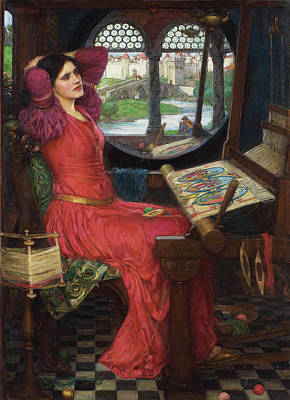 Painting -  I Am Half Sick Of Shadows Said The Lady Of Shalott by John William Waterhouse