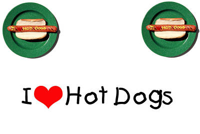 I Love Hot Dogs Art Print by Michael Ledray