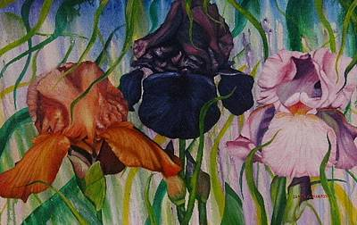 Painting - I Thought Tulips by Shahid Muqaddim