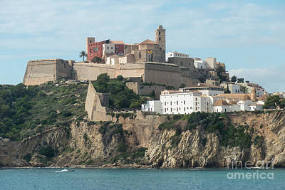 Ibiza Town And Castle Art Print