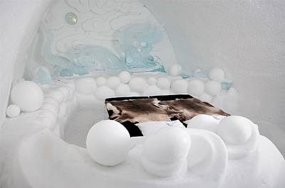 Kiruna Photograph - Ice Hotel, In The North Of Sweden by Tamara Sushko