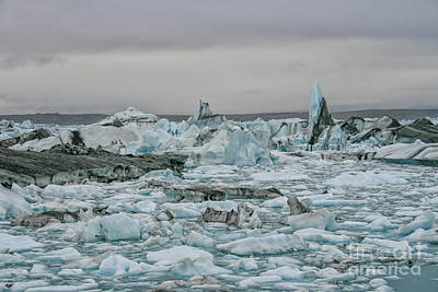 Photograph - Icebergs In Iceland by Patricia Hofmeester
