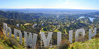 Clear Sky Photograph - Iconic Hollywood  by Art K