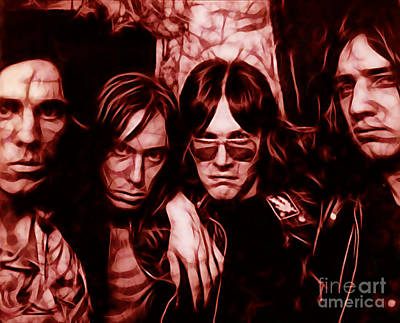 Rock Music Mixed Media - Iggy And The Stooges Collection by Marvin Blaine