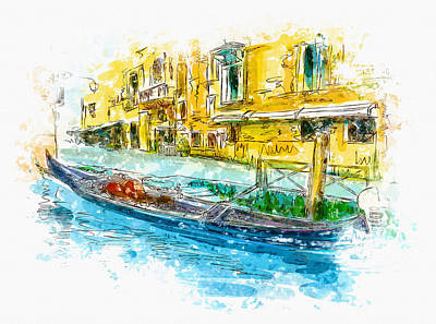 Illustration Of City Streets - Venice Original