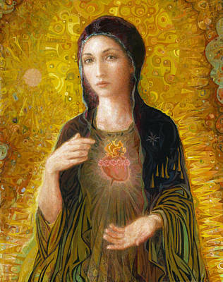 Liturgical Painting - Immaculate Heart Of Mary by Smith Catholic Art