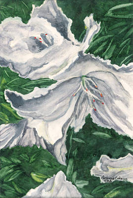 Art Print featuring the painting Impression Of Azaleas  by Antonia Citrino