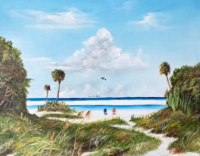 Painting - In Paradise by Lloyd Dobson