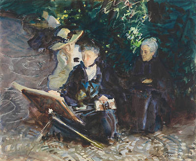 Drawing - In The Generalife by John Singer Sargent