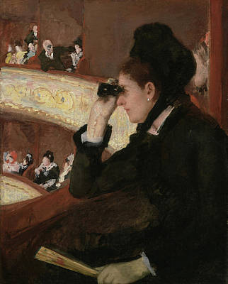 Cultural Painting - In The Loge by Mary Cassatt