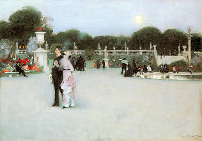 Luxembourg Painting - In The Luxembourg Gardens by John Singer Sargent