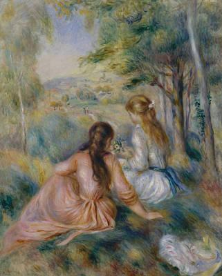 Painting - In The Meadow by Auguste Renoir