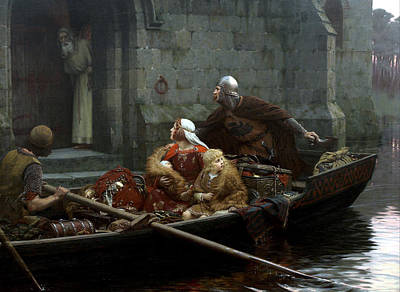 Monastery Painting - In Time Of Peril by Edmund Blair Leighton