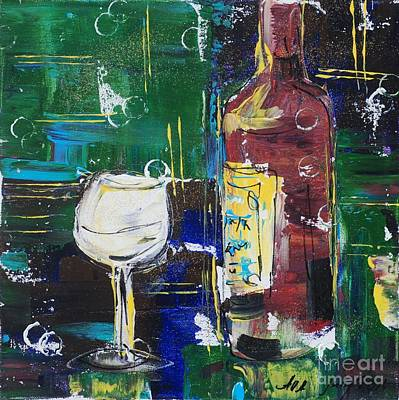 Painting - In Vino Veritas. Wine Collection 12 by Alla Dickson