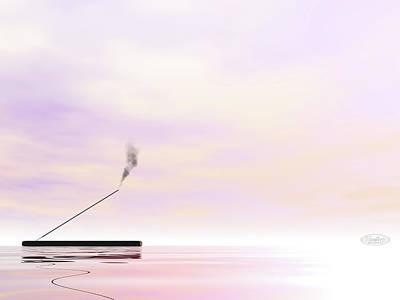 Diffuser Digital Art - Incense - 3d Render by Elenarts - Elena Duvernay Digital Art
