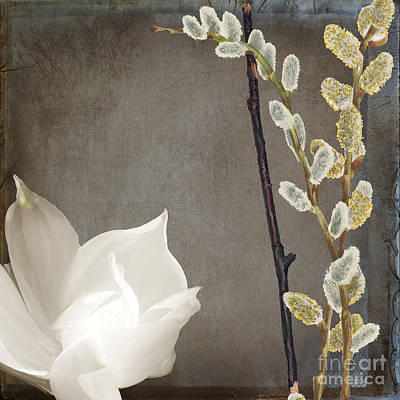 White Flowers Painting - India II by Mindy Sommers
