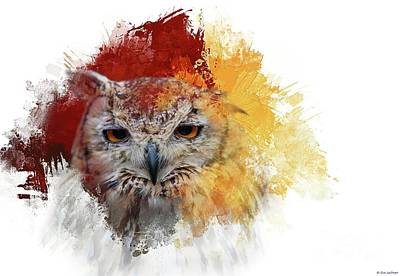 Indian Eagle-owl Art Print